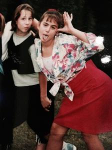 De duckface en Miley-tong waren in de jaren '90 al heel hip.