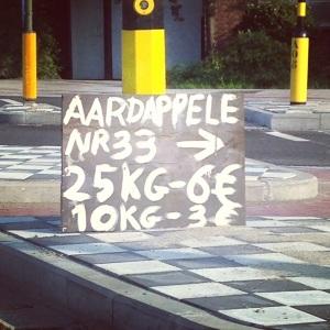 6 euro voor 25 kilo, daar kunt ge niet voor sukkele!