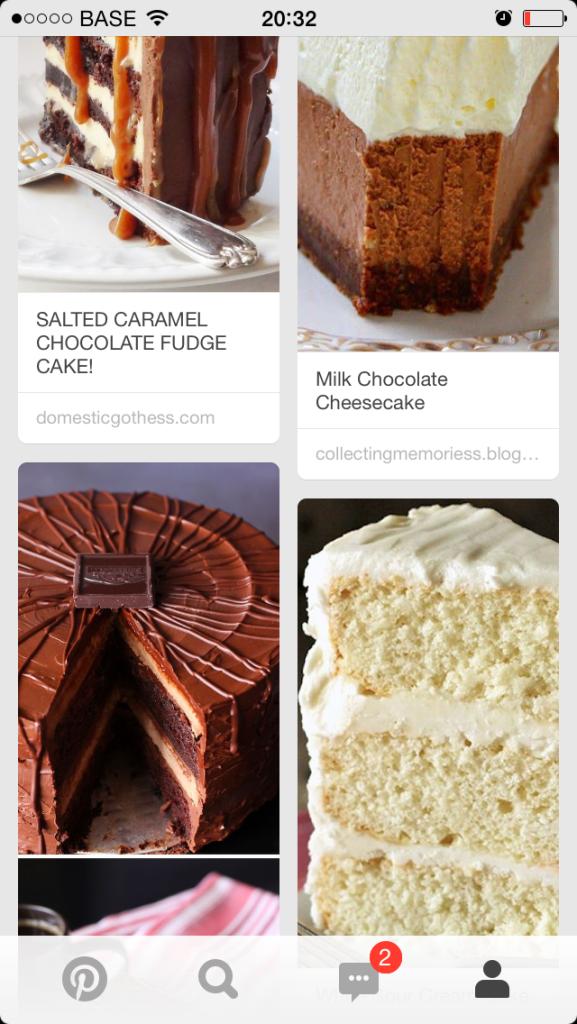 Mijn manier om de suikerdetox te overleven: zo veel mogelijk naar foto's van taarten kijken. Het woord masochist valt nu al voor een tweede keer.