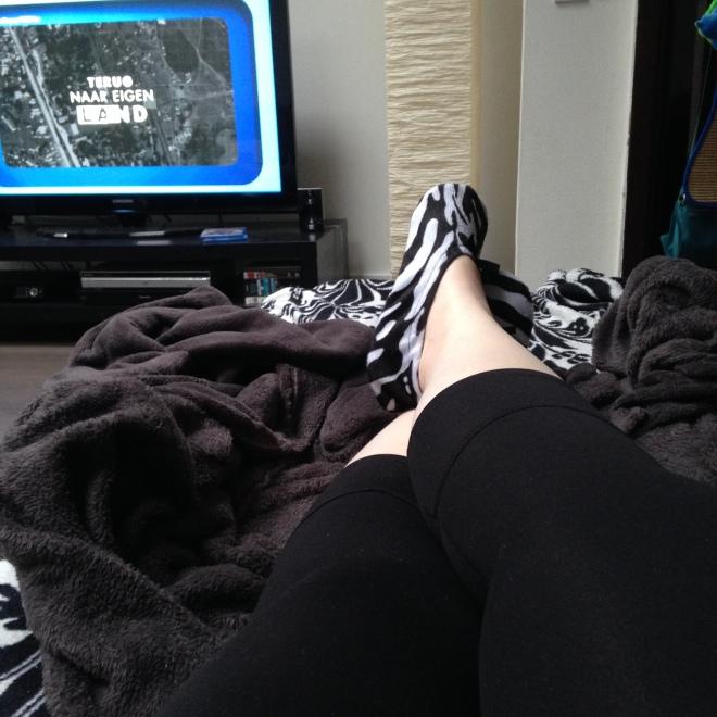 Officiële regel: op uw 4/5-dag moet ge uw zebra-sloefkes aandoen. Staat zo in het wetboek.